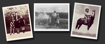Collage of restored photographs